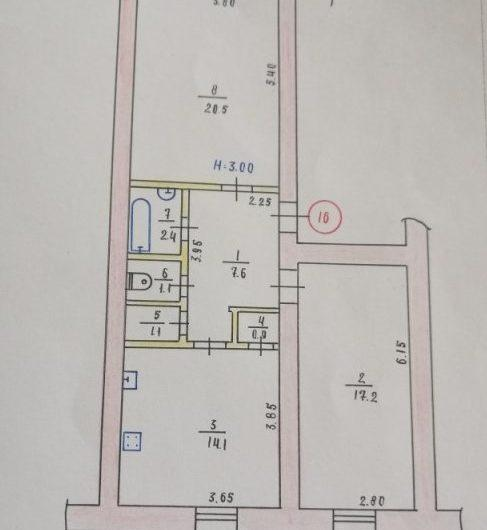 Продажа 2х ком. квартиры пл. Освобождения, в доме с двором закрытого типа