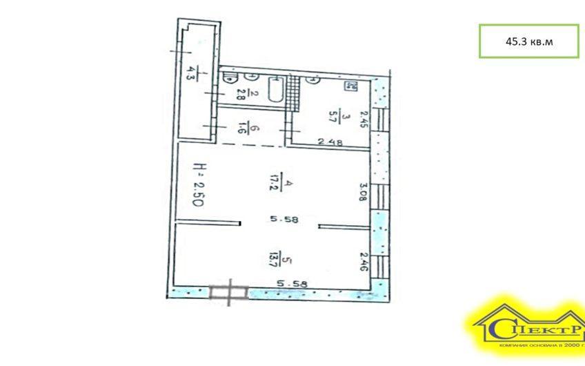 10м. от АТБ, центр, СевГок, 45 кв.м