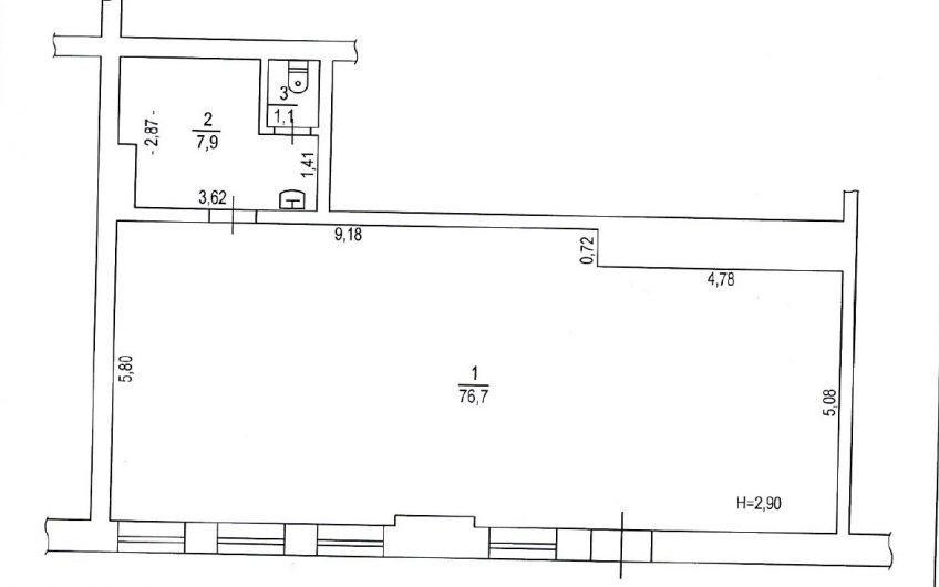 Аренда встроенного помещения 5Заречный 8а